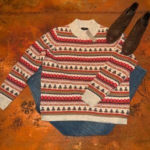 NEW WITH TAGS J Crew Mockneck Fair Isle Sweater